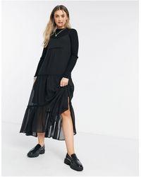 AllSaints Vestito midi nero