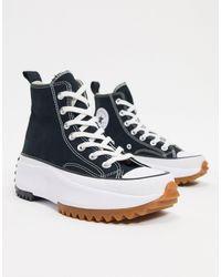 Converse Run Star Canvas Sneakers - Black