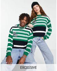 Reclaimed (vintage) Inspired Unisex Knitted Jumper - Green