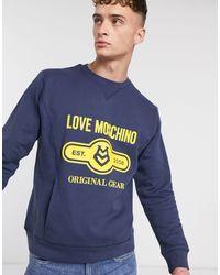 Love Moschino Свитшот С Круглым Вырезом -синий