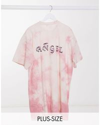 Missguided Robe t-shirt oversize à effet tie-dye - Rose