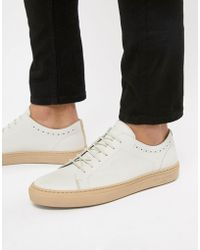 Ted Baker - Uurll Leather Trainers In White - Lyst