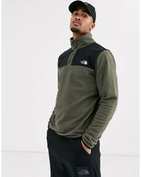 The North Face Tka Glacier Snap-neck Pullover - Green