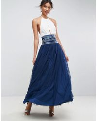 ASOS - Maxi Tulle Skirt With Crossover Embellished Waistband - Lyst