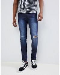 Loyalty & Faith - Loyalty And Faith Siret Super Skinny Jeans With Ripped Knees In Dark Wash - Lyst