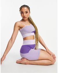 South Beach Minishorts lila sin costuras - Morado