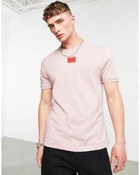 HUGO - – Diragolino 212 – T-Shirt mit kontrastierender Logo-Box - Lyst
