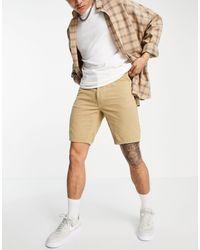 ASOS Shorts slim color piedra - Neutro