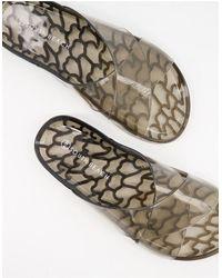 South Beach – gel-sandalette - Schwarz