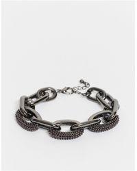ASOS Asos Editon Bracelet With Faux Pearl Detail - Metallic