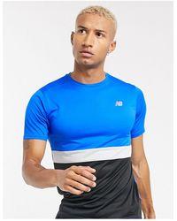 New Balance Футболка Синяя/черная Running Accelerate-синий