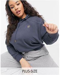 River Island Sweat-shirt d'ensemble avec logo et coutures - Noir