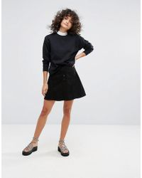WÅVEN | A Line Denim Skirt | Lyst