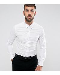 Only & Sons | Skinny Smart Shirt With Stretch | Lyst
