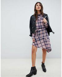 Vero Moda Asymmetric Check Mini Skirt - Multicolour