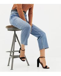 New Look - Suedette Heeled Sandal - Lyst