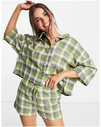 Skylar Rose 2 Piece Shirt And Shorts Set - Green