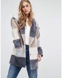 Lovers + Friends - Lovers + Friends Patchwork Coat - Lyst