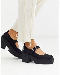 ASOS – Shaky – e Mary-Jane-Schuhe mit Absatz und dicker Sohle - Schwarz