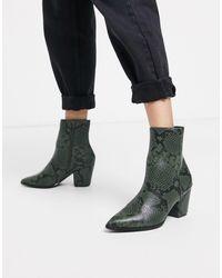 Glamorous Heeled Boots - Green