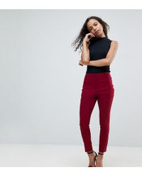 ASOS - High Waist Trousers In Skinny Fit - Lyst