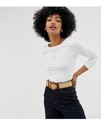 Warehouse Scoop Back Top - White