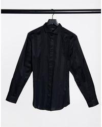 Jack & Jones - Черная Рубашка В Атласную Полоску Premium-черный - Lyst