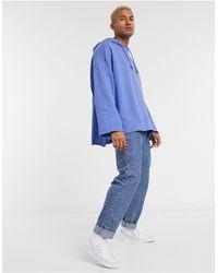 ASOS - Felpa super oversize blu - Lyst