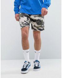 Bershka - Jersey Shorts In Camo - Lyst