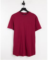 ASOS Camiseta burdeos ajustada - Rojo