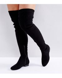 234509794ba ASOS Asos Kendra Point Over The Knee Boots in Black - Lyst