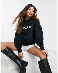 French Connection Oversized Hoodie - Black