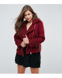 Missguided - Shearling Borg Aviator Jacket - Lyst