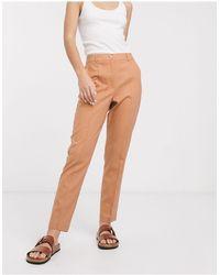 ASOS Ultimate Linen Cigarette Suit Trousers - Multicolour