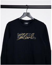 Karl Lagerfeld Черный Свитшот С Логотипом