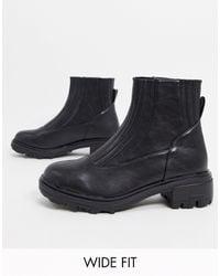 Raid Wide Fit Exclusive Prisla Chunky Flat Boots - Black
