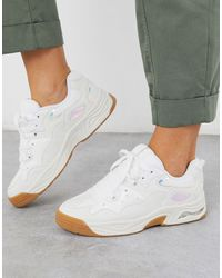 Stradivarius Sneaker With Iridescent Detail - White