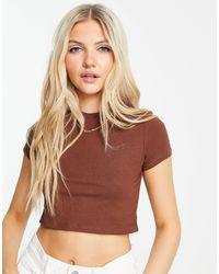 Monki Karo Organic Cotton T-shirt - Brown