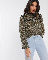 Y.A.S - Shirt With Lace Trim - Lyst