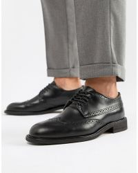 SELECTED - Leather Brogue Shoe - Lyst