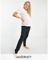 New Look Mama & Mini Slogan jogger Pyjama Short - Pink