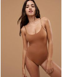Nubian Skin - Naked Collection Nude Bodysuit In Medium - Lyst