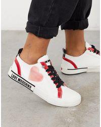 Love Moschino Белые Кроссовки С Логотипом -белый