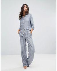 Abercrombie & Fitch Stripe Boyfriend Pajamas Pant - Blue