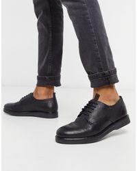 H by Hudson Zapatos derby en cuero negro Barnstable