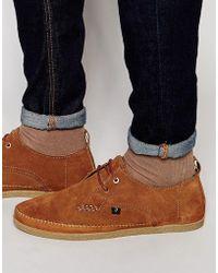 Farah Drape Lo Shoes - Brown