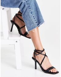 New Look Ankle Tie Strappy Sandal - Black