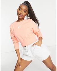 Nike Air Cropped Fleece Sweatshirt - Orange