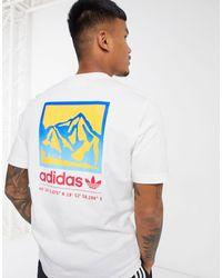 adidas Originals Белая Футболка С Принтом На Спине Adiplore-белый