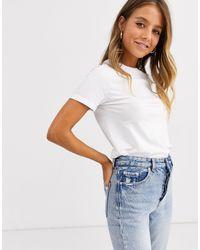 New Look T-shirt col roulé en coton biologique - Blanc